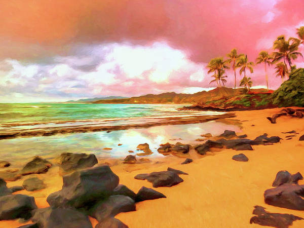 Painting - Sunrise At Kapaa Sands Kauai by Dominic Piperata