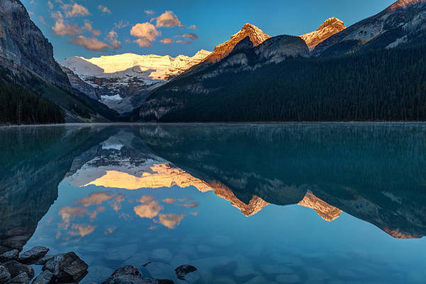 Photograph - Sunrise At Lake Louise, Banff National Park, Alberta, Canada by Pierre Leclerc Photography