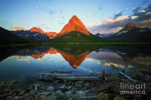 Photograph - Sunrise At Many Glaciers by Craig J Satterlee