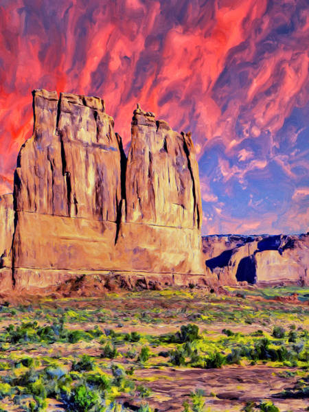 Painting - Sunrise At Monument Valley by Dominic Piperata