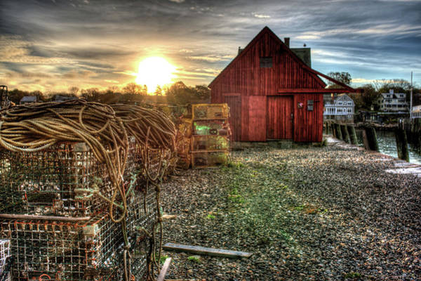 Photograph - Sunrise At Motif #1 In Gloucester Ma by Toby McGuire