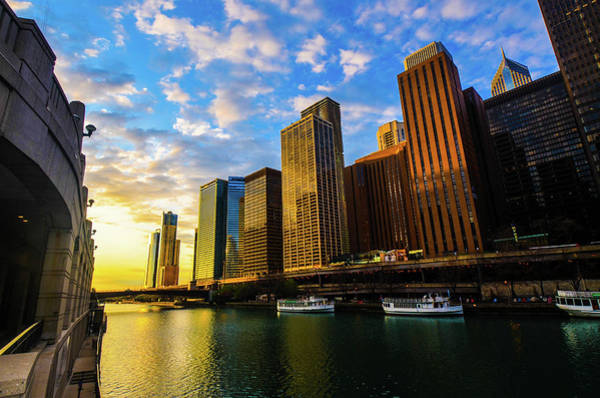 Photograph - Sunrise At Navy Pier by D Justin Johns