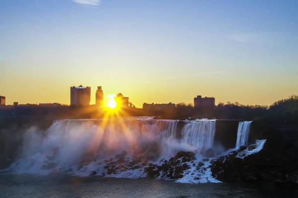 Photograph - Sunrise At Niagara Falls by Bill Cannon