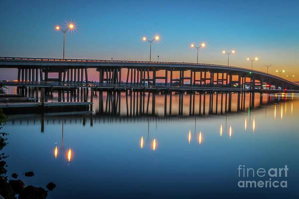 Photograph - Sunrise At Palm City Bridge by Tom Claud