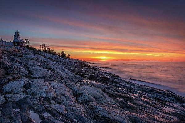 Photograph - Sunrise At Pemaquid Point by Kristen Wilkinson