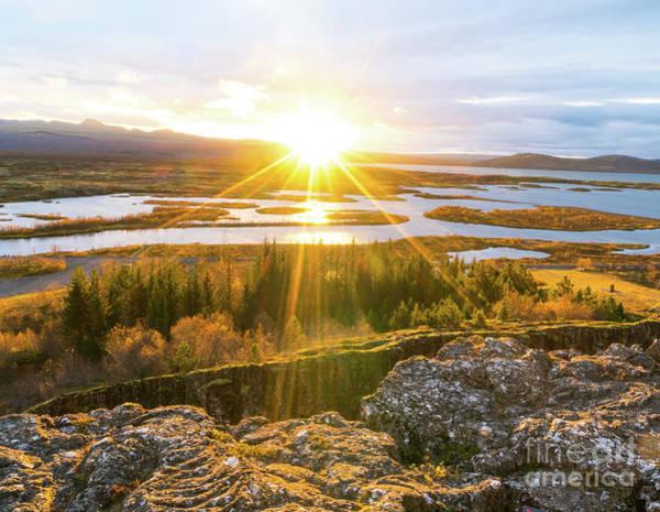 Wall Art - Photograph - Sunrise At Pingvellir  by DAC Photo