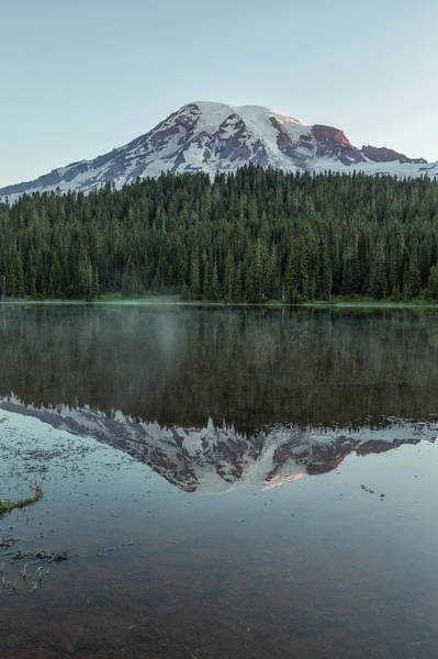 Photograph - Sunrise At Reflection Lake - Mount Rainier Vertical by Belinda Greb