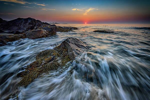 Sandy Point State Park Photograph - Sunrise At Reid State Park by Rick Berk