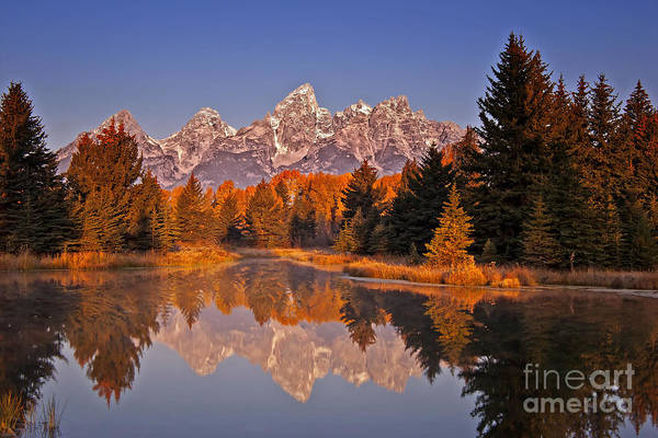 Sunrise At Schwabacher Landing  Art Print