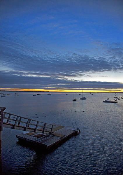 Sunrise At The Barnstable Yacht Club Art Print