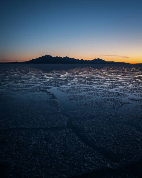 Photograph - Sunrise At The Bonneville Salt Flats by James Udall