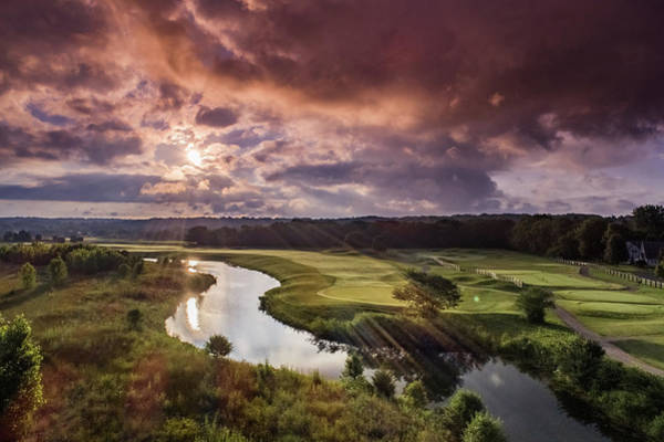 Photograph - Sunrise At The Course by Nick Smith