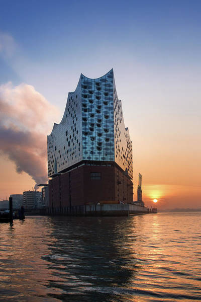 Photograph - Sunrise At The Elbe Philharmonic Hall by Marc Huebner