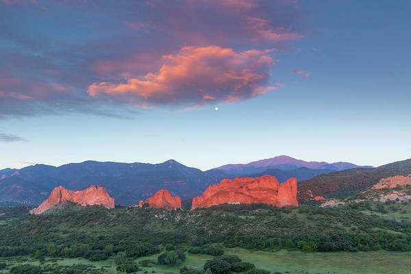 Lyons Wall Art - Photograph - Sunrise At The Garden Of The Gods by Bridget Calip