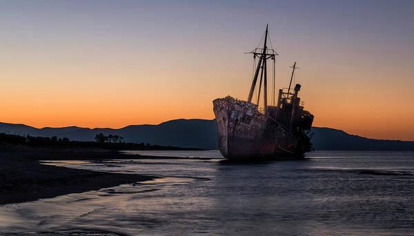 Photograph - Sunrise At The Greek Beach by Jaroslaw Blaminsky