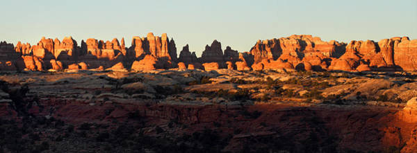 Photograph - Sunrise At The Needles In Canyonlands National Park Panorama by Pierre Leclerc Photography