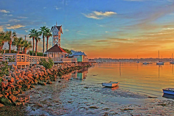 Dock Of The Bay Photograph - Sunrise At The Pier by HH Photography of Florida