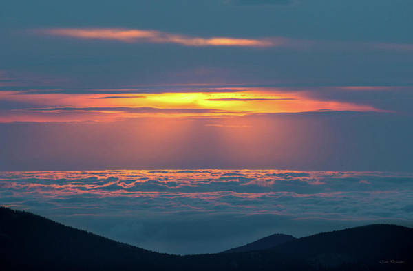 Photograph - Sunrise At The Top Of The World by Judi Dressler