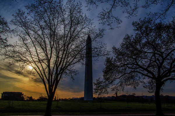 Wall Art - Photograph - Sunrise At The Washington Monument by Bill Cannon