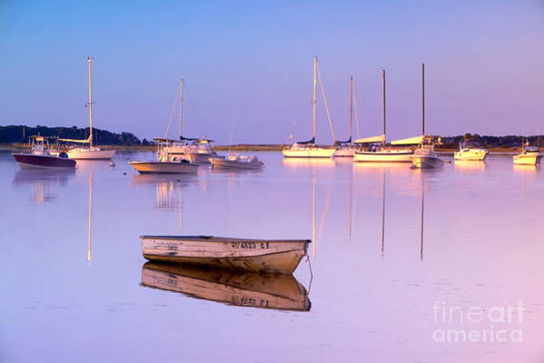 Powerboat Photograph - Sunrise At West Bay Osterville Cape Cod by Matt Suess