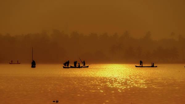 Wall Art - Photograph - Sunrise Backwater by Sanjay Kumar