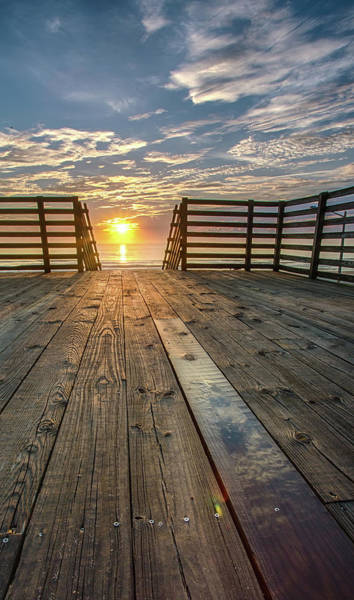 Sunrise Boardwalk Art Print