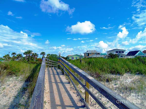 Photograph - Sunrise Boardwalk Treasure Coast Florida C7 by Ricardos Creations