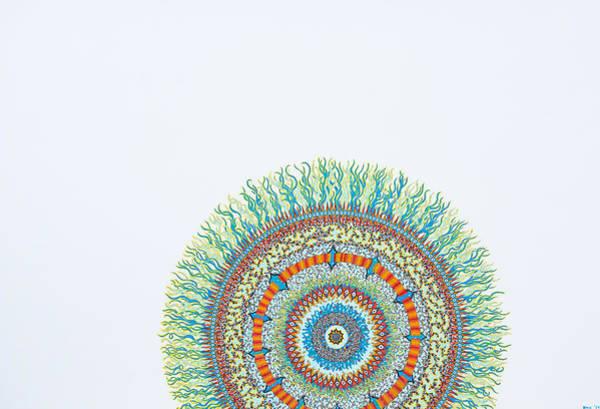 Fractal Drawing - Sunrise by Bobby Hermesch