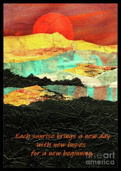 Asheville Mixed Media - Sunrise Brings A New Day by Sharon Williams Eng