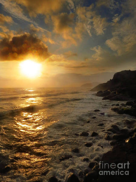 Photograph - Sunrise By The Rocks by James Hennis