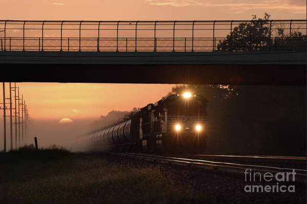 Photograph - Sunrise By The Tracks by Charles Owens