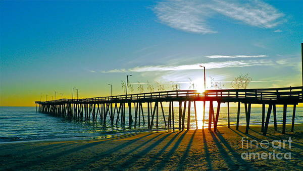 Oceanfront Photograph - Sunrise Christmas Pier by E Robert Dee