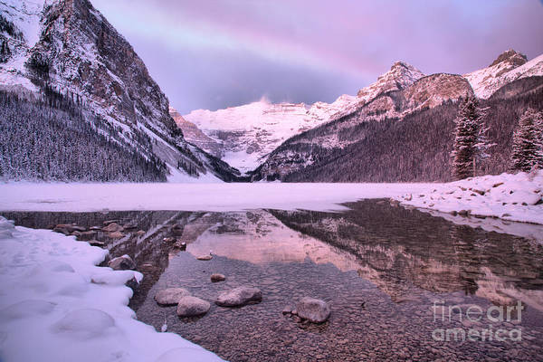 Photograph - Sunrise Cloudbow Over Lake Louise by Adam Jewell