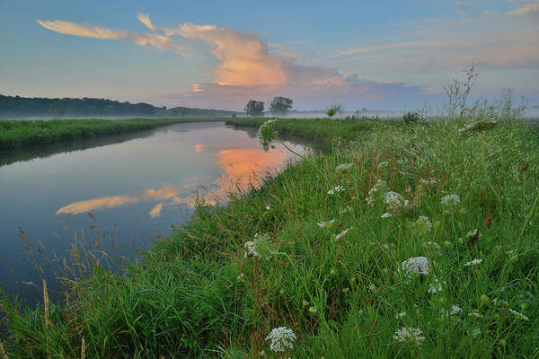 Photograph - Sunrise Color Reflected In Nippersink Creek Of Glacial Park by Ray Mathis