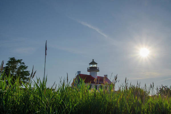 Wall Art - Photograph - Sunrise Coming Up Over East Point Lighthouse by Bill Cannon
