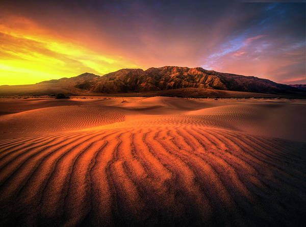 Photograph - Sunrise-death Valley by Usha Peddamatham