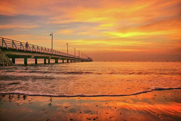 Photograph - Sunrise Delight On The Beach At Shorncliffe by Keiran Lusk