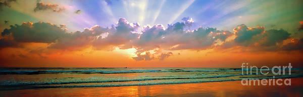 Photograph - Sunrise East Coast Fl Daytona Beach  by Tom Jelen
