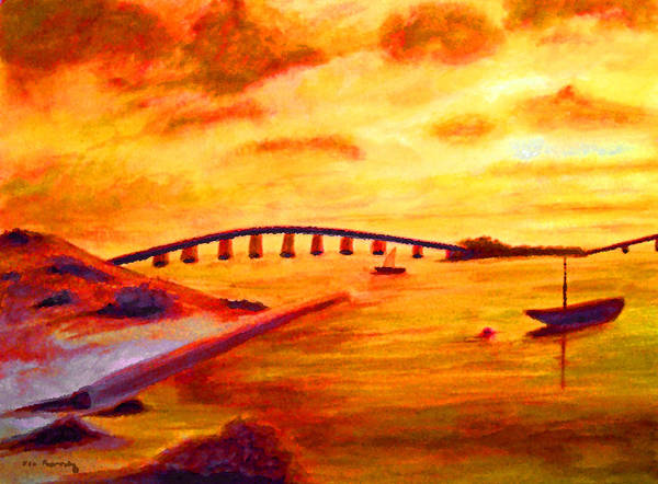 Mangroves Digital Art - Sunrise Fiesta Key by Ken Figurski