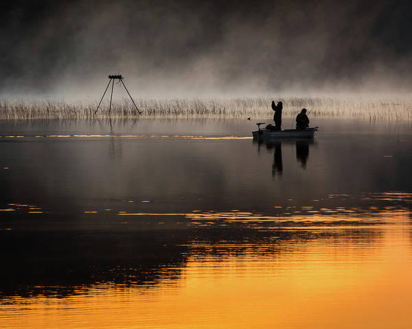 Photograph - Sunrise Fishing by William Christiansen