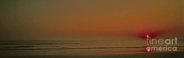 Photograph - Sunrise Flat Surf Atlantic Ocean  by Tom Jelen