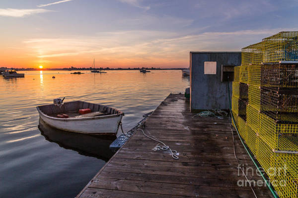 Lobstering Photograph - Sunrise From Erica's by Benjamin Williamson
