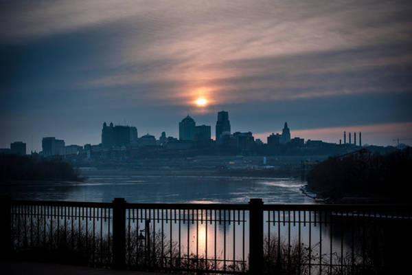 Photograph - Sunrise From Kaw Point by Jeff Phillippi