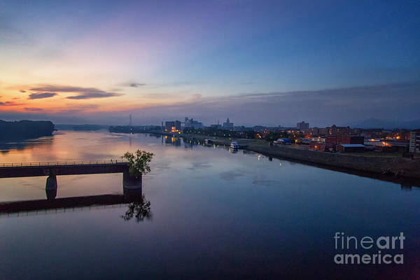 Photograph - Sunrise From Winona's Bridge by Kari Yearous
