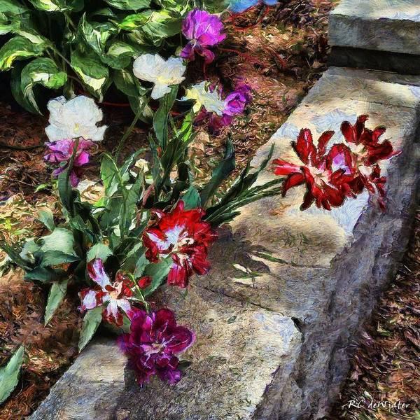 Painting - Sunrise Garden by RC DeWinter