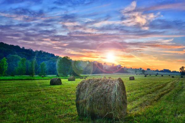 Bernadette Photograph - Sunrise Glow In The Farmer's Field by Bernadette Chiaramonte
