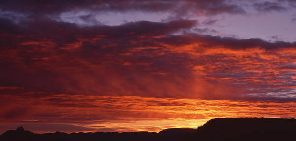 Silhoutte Photograph - Sunrise Grand Canyon National Park Az by Panoramic Images