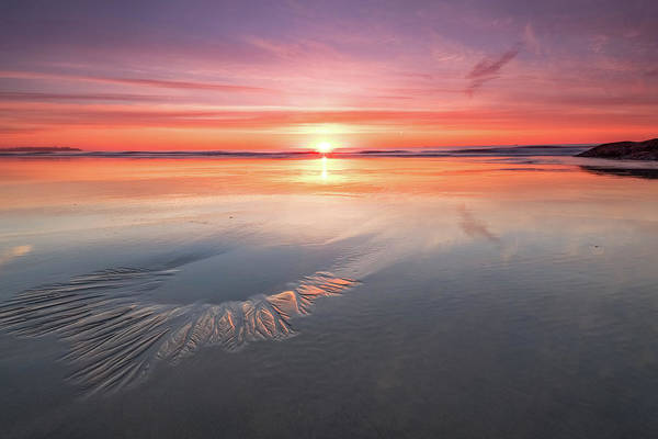 Photograph - Sunrise, Hampton Beach, Nh by Jeff Sinon