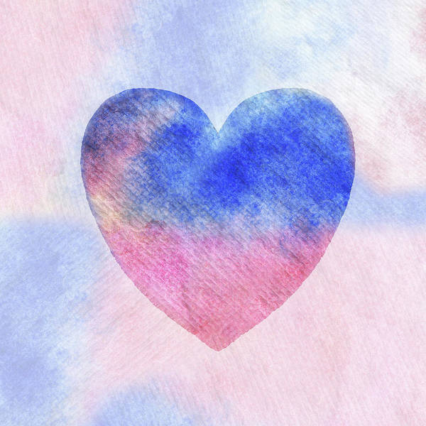 Painting - Sunrise Heart Watercolor Silhouette  by Irina Sztukowski