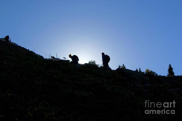 Photograph - Sunrise Hikers On Mount Massive by Steve Krull